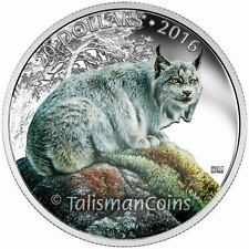 Canada 2016 Iconic Animals #11 Commanding Canadian Lynx $20 Pure Silver Proof