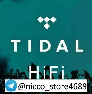 TIDAL HIFI ABBONAMENTO 1/3/6/12 MESI - LEGGI DESCRIZIONE - SOLO TELEGRAM!