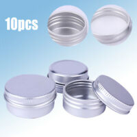 10x 5/10/60ml Empty Aluminium Cosmetic Pot Jar Tin Container Box Screw Lid Craft