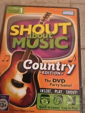 Shout about Music - Country Edition (DVD party game) NEW