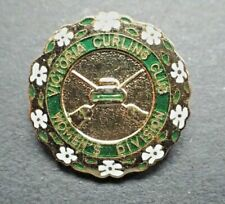 Vintage Curling Club Pin - Victoria Curing Club Women's Division
