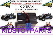NEW! LONG LASTING DODGE CHARGER CAR KID TRAX 12V OEM BATTERY BLUE W/PLUG