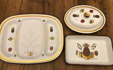 Georges Briard Vintage And Rare Enamel Set Mcm Mid-Century Estate Dishes 1950'S