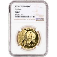 2004 China Gold Panda 1 oz 500 Yuan - Ngc Ms69
