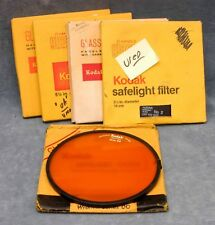 """KODAK USED 5-1/2"""" SAFELIGHT FILTER IN BOX - YOUR CHOICE - $21.99 SHIPPED USA"""