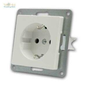 CUP Flush Socket White, Screw Terminal Connector, Schutzkontakt-Dose Up