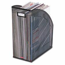 Rolodex Nestable Rolled Mesh Steel Jumbo Magazine File 6 12 X 10 X 12 12 Black