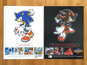 Sonic Adventure 2 Dreamcast 2001 Vintage Print Ad/Poster Official Sega Promo Art