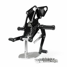 Adjustable Rearsets Foot Rest Peg Rear Set For Yamaha MT-07 FZ-07 13-16 Black AU