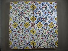 4 antike ornament Fliesen feinverzweigte Rauten Kachel Tegel Dutch Tiles 19 Jh