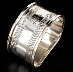 SILVER NAPKIN RING 1940 HALLMARKED STERLING BY BY EMILE VIENER