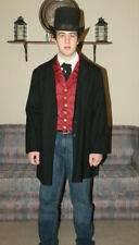 Frock Coat Costume Edwardian Victorian Dickens Old West mens L womens 18W Wool