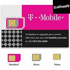 T-Mobile 4G LTE blank 3 in 1 Triple Cut Sim Card Expires in APRIL 2020