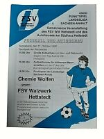 *RAR* Programm 17.10.1992 FSV Walzwerk Hettstedt Chemie Wolfen Landesliga Anhalt