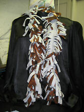 Scarf Fleece Boa Handmade football pattern black gray