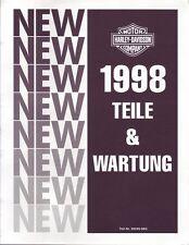 HARLEY Zusatz-Werkstatthandbuch 1998 Sportster Hugger Custom DEUTSCH 99449-98G