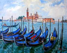 Venice, Italy, La gondola, landscape on canvas by Star