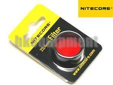 NiteCore NFR25 25.4mm Red Lens Cap Filter for EA1 EA2 EC1 EC2 MH1A Flashlight