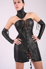 Leder Korsett Kleid Korsettkleid Leather  Corset Dress