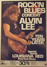ALVIN LEE CONCERT TOUR POSTER 1979 RIDE ON TEN YEARS AFTER
