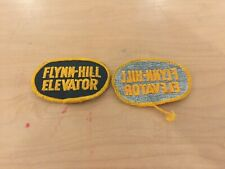 ELEVATOR PATCH, NEW OLD STOCK, 1960'S FLYNN-HILL ELEVATOR