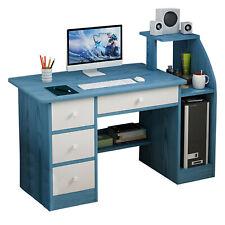 Computer Desk Pc Laptop Table Workstation Home Office Furniture Withdrawer Amp Shelf
