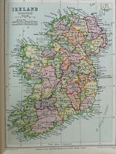 "c. 1930s VINTAGE PHILLIP'S CROWN ATLAS Page  ""IRELAND""  PLATE15"