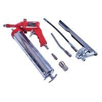 Air Grease Gun Set 500cc Flexi Tubes 14oz capacity Compressor Tool 1200-6000 PSI