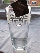 Valentines day gift Vase + Elegant + Swarovski Crystal & Sandblasted W5A