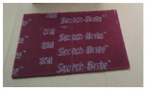 3M 64926 Scotch-Brite PRO Hand Pads, Very Fine grade 6 in x 9 in