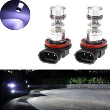 Pair 100W H11 H8 1000lm High Power 6000K White LED Fog Light Driving Bulbs Novel