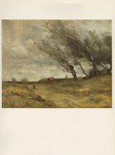 """1979 Vintage COROT """"WINDSWEPT LANDSCAPE"""" LOVELY PANORAMA COLOR Offset Lithograph"""