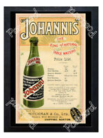 Historic Johannis The King of Natural Table Waters Advertising Postcard