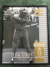 "Hank Aaron Upper Deck Century Legends Auto UDA Framed 16x20"" Poster HIGH QUALITY"