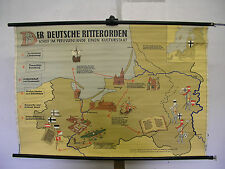 School Wall Map Wall Map Card Knights German Medal State Prussia 119x80 ~ 1955