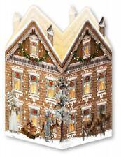 MINI calendario avvento-Lanterna Nostalgico HOUSE-Casa Marrone