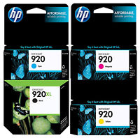 GENUINE NEW HP 920XL 920 Ink Cartridge 4-Pack for Officejet 6000 6500 7000 7500