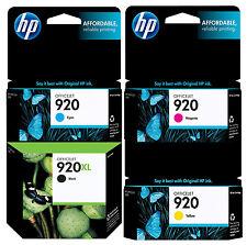 GENUINE NEW HP 920XL 920  (CD975AN/CH634AN/CH635AN/CH636AN) Ink Cartridge 4-Pack