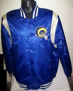 LOS ANGELES RAMS Throwback STARTER Jacket XL BLUE & SILVER