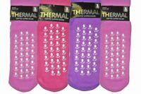 ladies thermal gripped slipper socks size 4-6