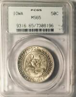 1946 Iowa Silver Commemorative Half Dollar - PCGS MS-65 -  Mint State 65