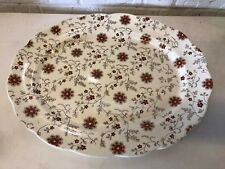 Antique Stafford Powell, Bishop, and Stonier Porcelain Large Tray w/ Floral Dec