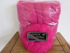 Mohair Wool Yarn 10 x 50g Balls Cerise Pink 82% Mohair DK Spectrum Brand
