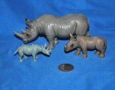 Trio of Rhinoceros 2 Schleich 1 Unknown in Very Good Used Condition