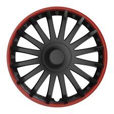 Radkappen Radzierblenden 15 Zoll schwarz rot von Versaco 4-Stück Typ CRYSTAL RO