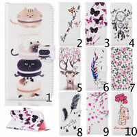 Magnetic Flip Stand Card Slot PU Leather Wallet Case Cover For Samsung Galaxy