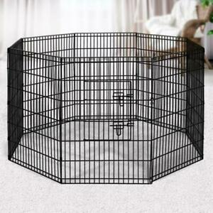 """i.Pet 2X36"""" 8 Panel Pet Dog Playpen Puppy Exercise Cage Enclosure Fence Play Pen"""