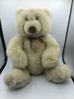 Official Retired Gund Beige White Teddy Bear Plush Soft Stuffed Toy Animal