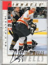 1998 PINNACLE HOCKEY CHRIS WELLS AUTO