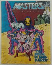 Vintage 1982 Mattel MOTU He-Man - The Ordeal Of Man-E-Faces! - Mini Comic Book